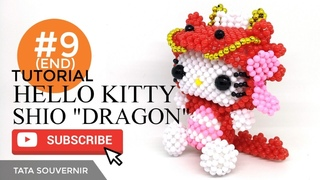 DIY How to Bead Hello Kitty Dragon Part 9(END)/ Hello Kitty de Miçangas /Kerajinan Manik /Manik Mote
