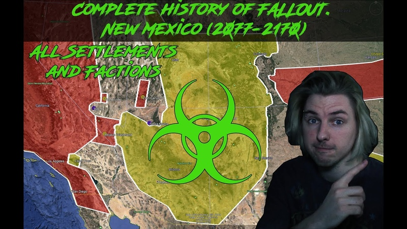COMPLETE HISTORY OF FALLOUT New Mexico 2077 2171 FALLOUT 1 5