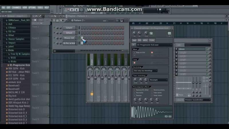 Tutorial How to make a fat Sub Kick EDM like Garrix DV LM with Sytrus by DJ Miliano