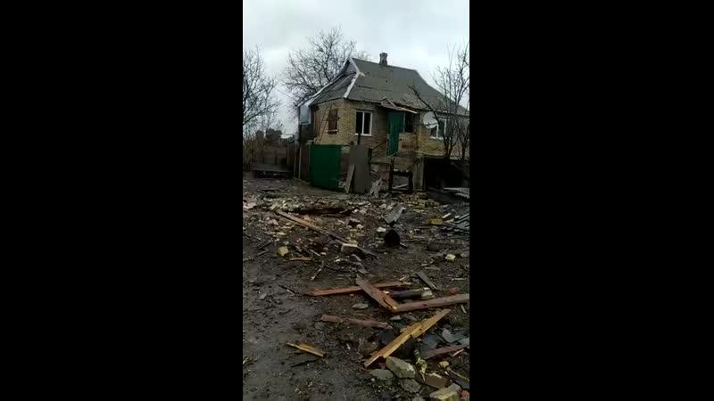 Горловка разнесена в клочья фашистскими карателями ВСУ Все северные окраины города в ру mp4