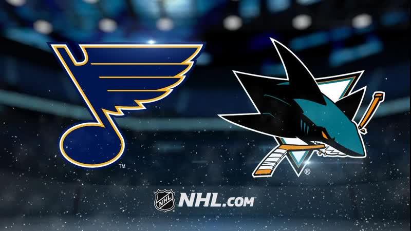 NHL St Louis Blues vs San Jose Sharks в 6 30 по МСК
