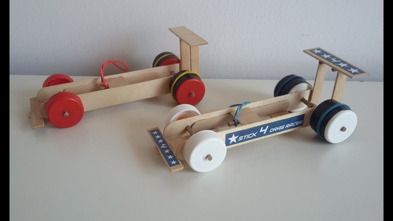 Wow How to make a Rubber Band Dragster Car at Home from Popsicle sticks Simple DIY toy