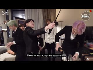 [RUS SUB][BANGTAN BOMB] What happened during the V LIVE - BTS