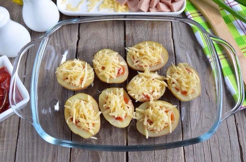 Пицца в картофельных лодочках, изображение №5