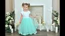 DIY Dress Детское нарядное платье МАСТЕР-КЛАСС вязание крючком с бисером