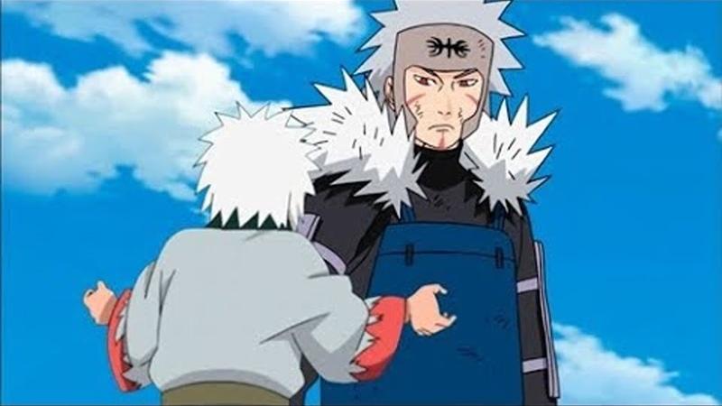 Джирайя узнает что Тобирама его отец в аниме Наруто l Родители 3 легендарных Саннинов