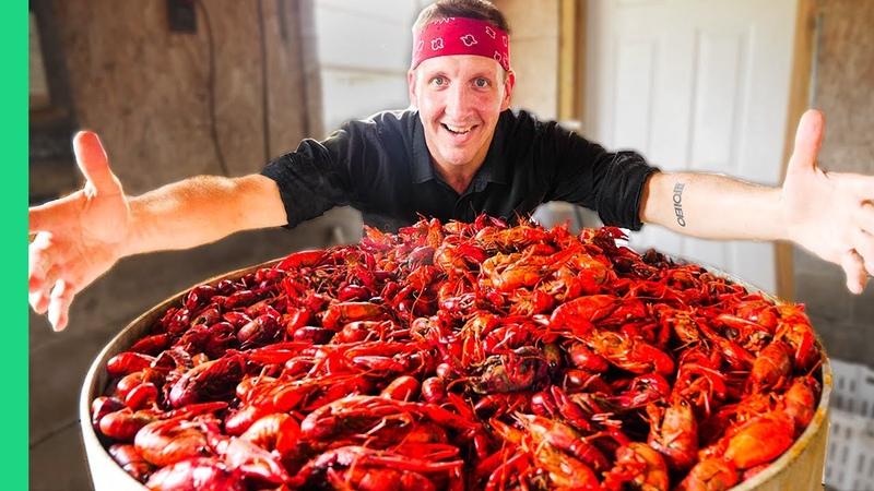 Boiling 10 000 Crawfish Epic Louisiana Crawfish Throw Down in Cajun Country