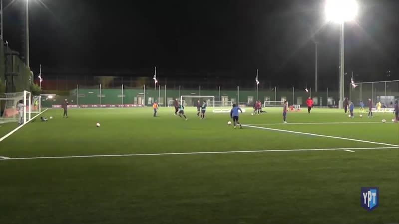 FC Barcelona (La Masia) u12 finishing - dribbling - 1v1 - defending - warm-up