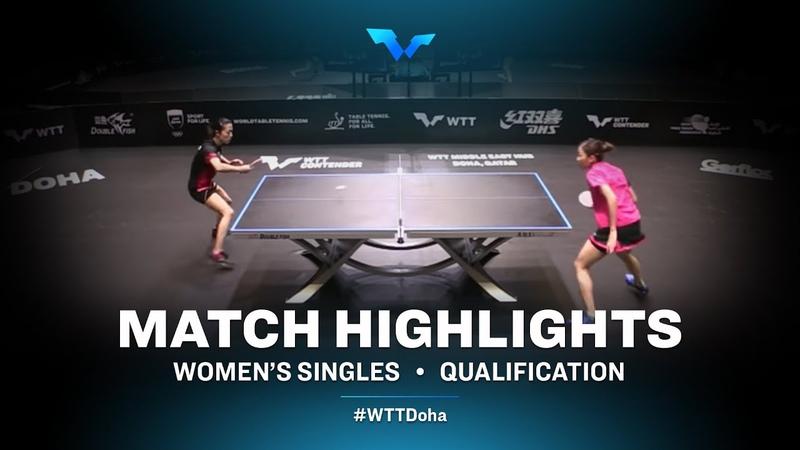 Yu Mengyu vs Liu Hsing Yin   WTT Contender Doha 2021   Womens Singles   QUAL Highlights