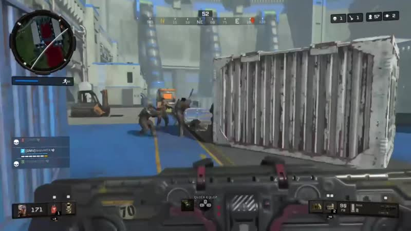 Oot Vultures find the wrong end of HILARIOUS use of the barricade Do they not have headsets Black Ops 4