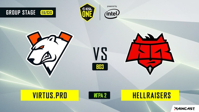Virtus.pro vs HellRaisers - Game 2, Group A - ESL One Los Angeles 2020 - Online Championship