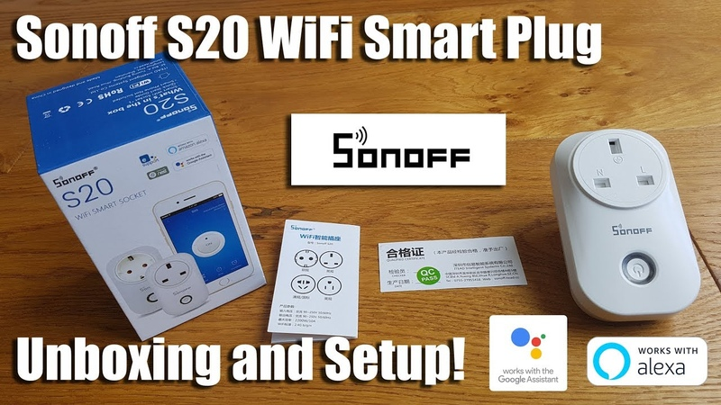 Sonoff S20 Wi-Fi Smart Plug, Works with Amazon Alexa Google Home Assistant