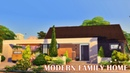 MODERN FAMILY HOME 🏡 Speed Build Sims 4 | Stop Motion | No CC