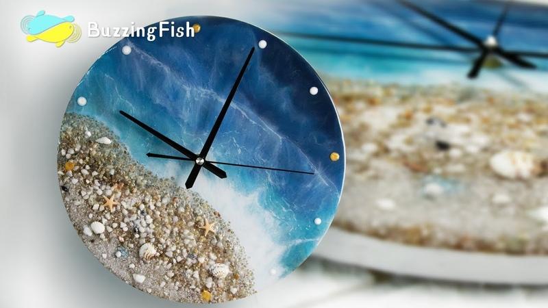 Ocean Clock from Resin Step by Step Resin Tutorial Resin Art