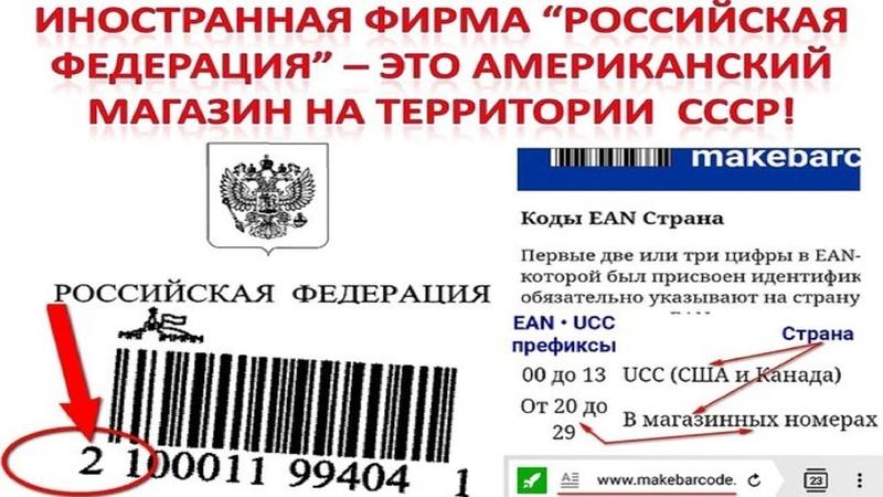 Российская Федерация - фирма 100 доказательства