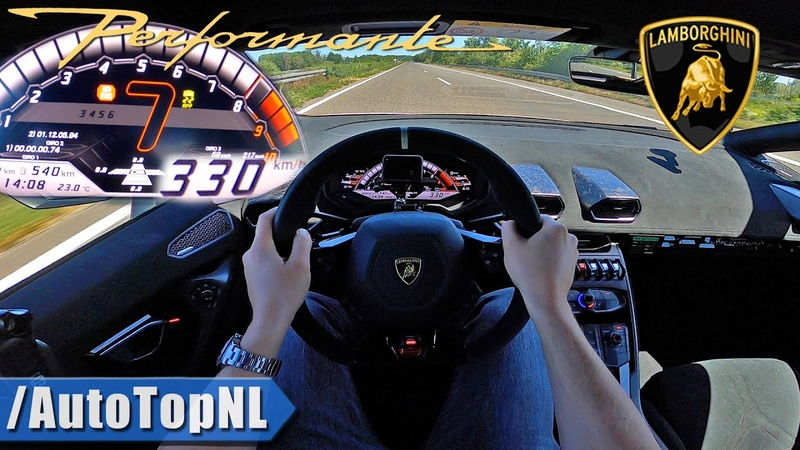 LAMBORGHINI Huracan Performante TOP SPEED 330kmh on AUTOBAHN [NO SPEED LIMIT!] by AutoTopNL