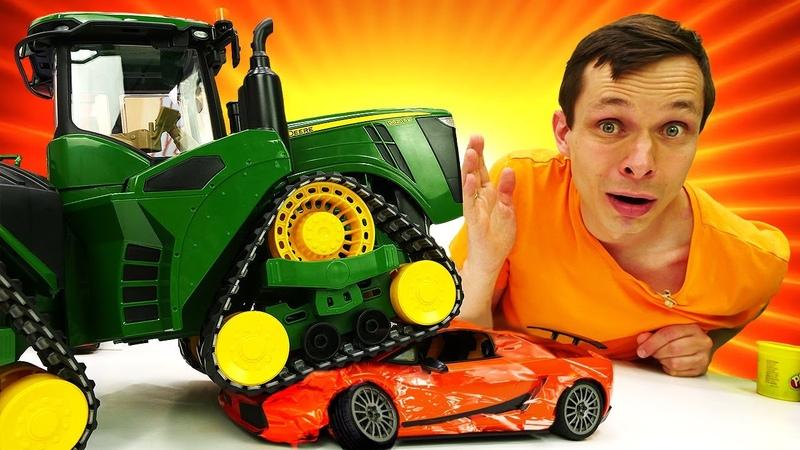 Силач Бен 10 и Супер Кот в Автомастерской Федора. Супергерои и машинки в новом видео для мальчиков