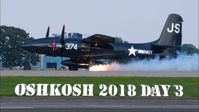 EAA Airventure Oshkosh Day 3 - T6 Texan Anniversary , F7F Tigercat Tire Blowout! [4K] BEST AIRSHOW!