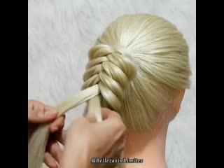 Красивая косичка!