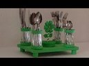 Ideias com vidro de detergente/ Porta talheres ou porta lápis/ Cutlery holder or pencil holder