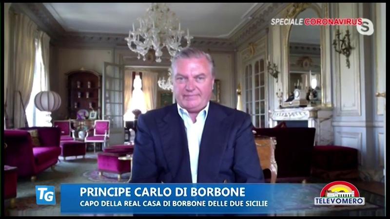 Emergenza Covid-19 Intervista di S.A.R il Principe Carlo di Borbone a Televomero