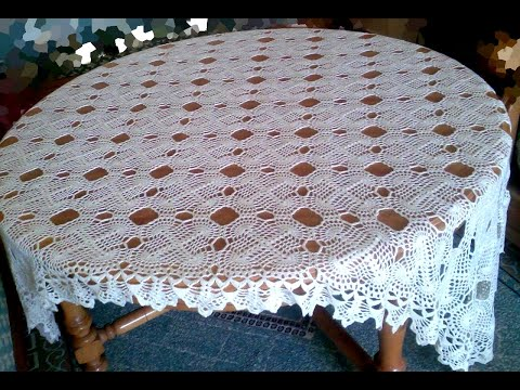 Lace Tablecloth Crochet How to crochet motifs part 2 كروشيه مفرش طاولة شروحات بالعرب