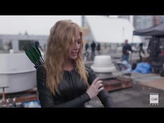 DCTV_Crisis_on_Infinite_Earths_Crossover_-_Katherine_McNamara_Suits_Up_as_Mia_Smoak_Featurette_(HD)