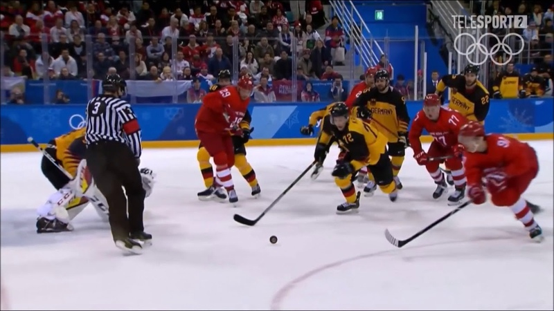 Финал Олимпиады 2018 хоккей . Россия-Германия 43.