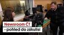 Newsroom ČT - pohled do zákulisí