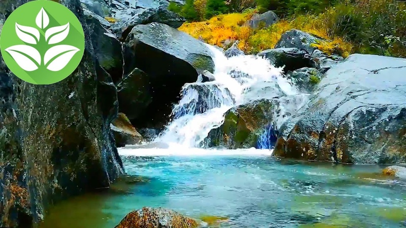 Mountain waterfall and rocks 10 hours Waterfall sounds White noise for sleeping