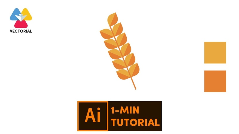 Wheat tutorial in Adobe Illustrator 1 minute tutorial for beginner