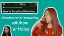Dreamcatcher answering wikihow articles