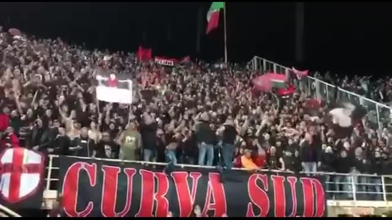 Заряд Curva Sud Милана под названием 11 мая 2001 года