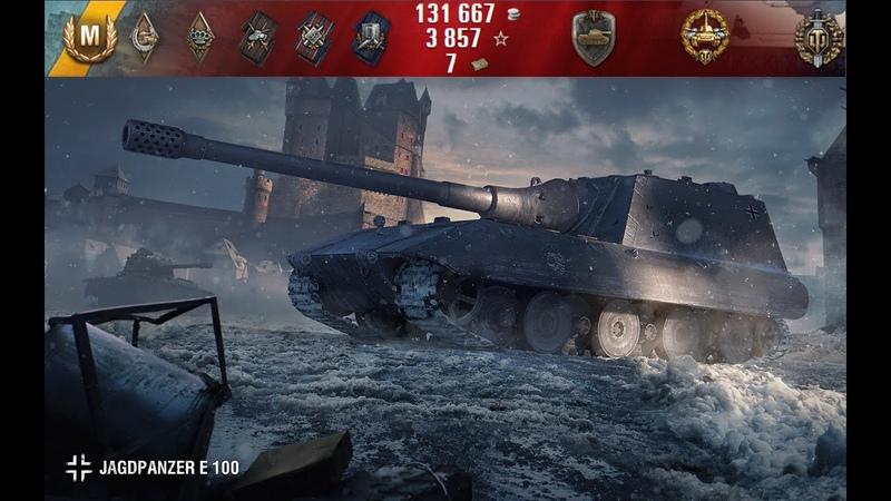 Jagdpanzer E 100 Перестрелка в бандитском Харькове. Противники не обращали внимания на Ягу