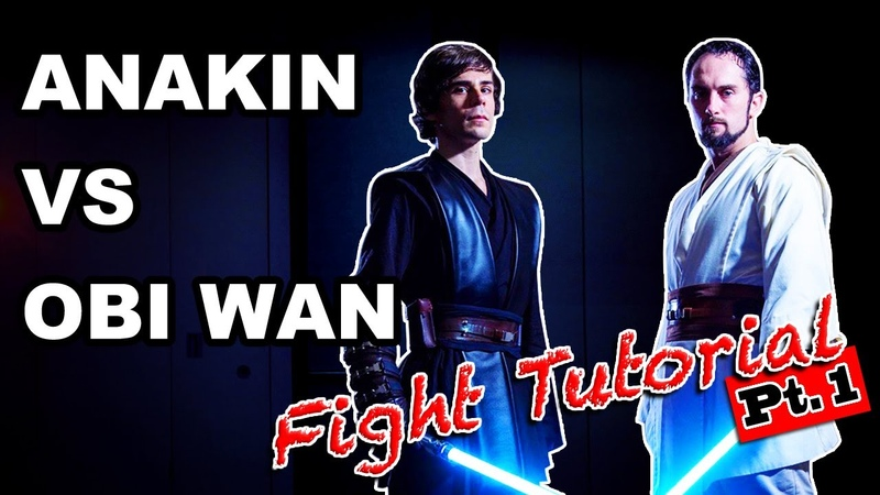Anakin vs Obi-Wan fight tutorial 1st section lightsaber forms soresu and shien