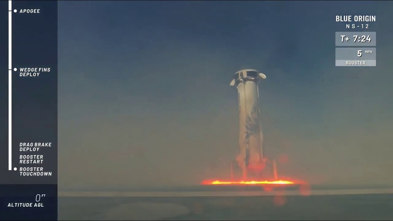 Watch Blue Origin's New Shepard Rocket Launch and Land NS 12 Mission