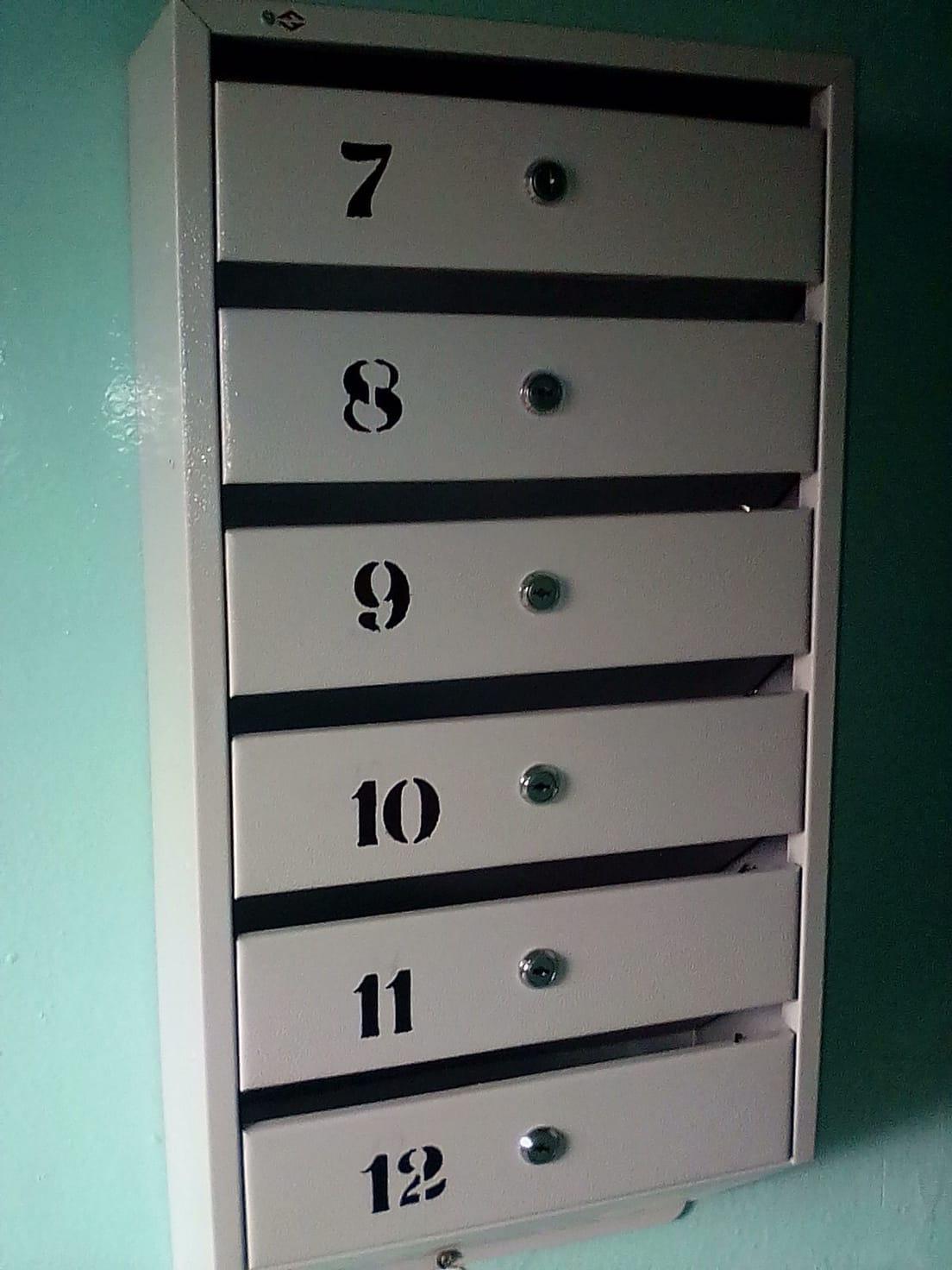 Установка почтовых ящиков улица Большева дом 15.