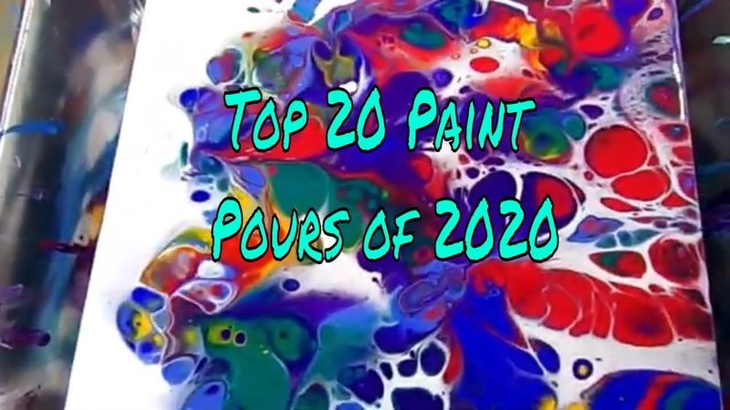 Top 20 Paint Pour Techniques of 2020   20 Paint Pours In 23 Minutes   Fluid Acrylic Compilation