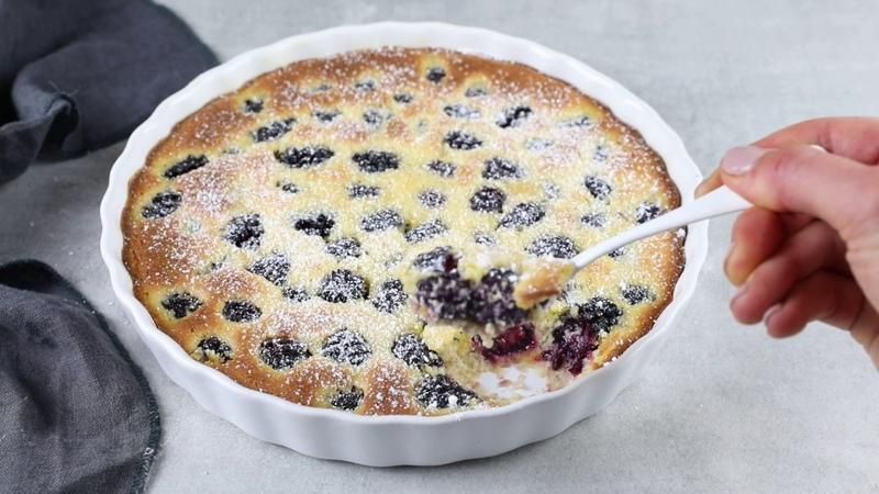 Keto Blackberry Clafoutis Low Carb Sugar Free Gluten Free