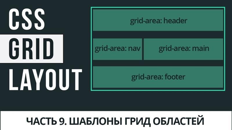 CSS Grid Layout 9 - шаблоны грид-областей с grid-template-areas