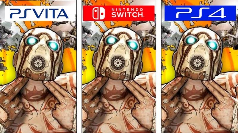 Borderlands 2 Switch Vita PS4 Graphics FPS Comparison