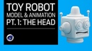 Cinema 4D - Toy Robot Tutorial Part 1: The Head. Volume Builder Model Animation.