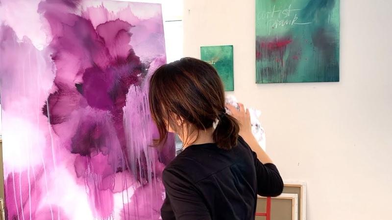 Abstrakte Malerei, simple Werkzeuge, Anfänger, Demo, Tipps, Flower