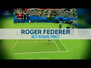 Roger Federers best points at the Olympic Games - Top Moments
