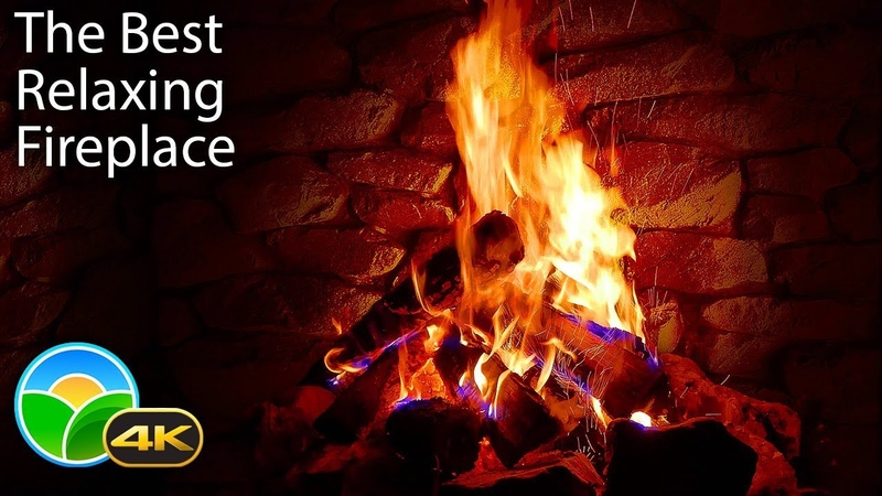 4K Relaxing Fireplace with Crackling Fire Sounds 🔥 No Music 4K UHD 2 Hours Screensaver
