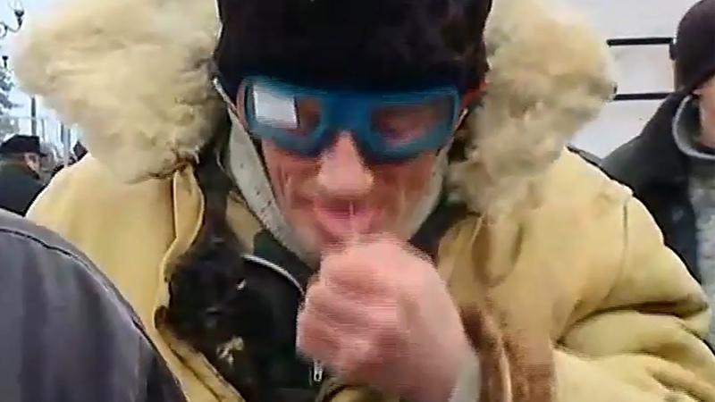 16 января 2018 Киев Воин Света съел свои сопли перед телекамерой