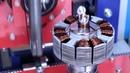 Автоматическая намотка статора трехфазного двигателя 74мм на станке МТ-405 Модестат.