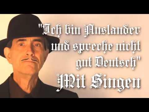 Ich bin Ausländer und spreche nicht gut Deutsch Lyrics Translation Chords Solo voice