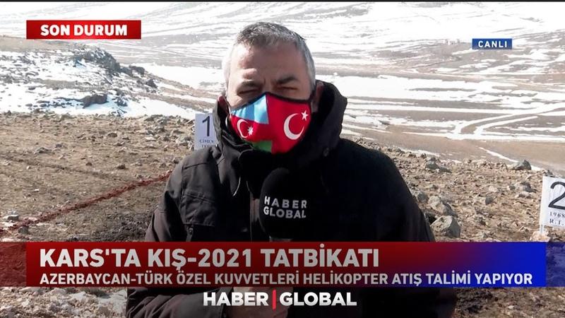Türkiye ile Azerbaycan'dan Kars'ta Ortak Tatbikat Helikopterler Atış Talimi Yapıyor