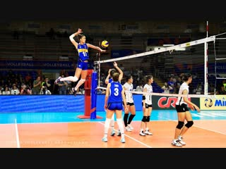 TOP 50 BEST Womens Volleyball Spikes. Powerful Spikes. VNL 2018